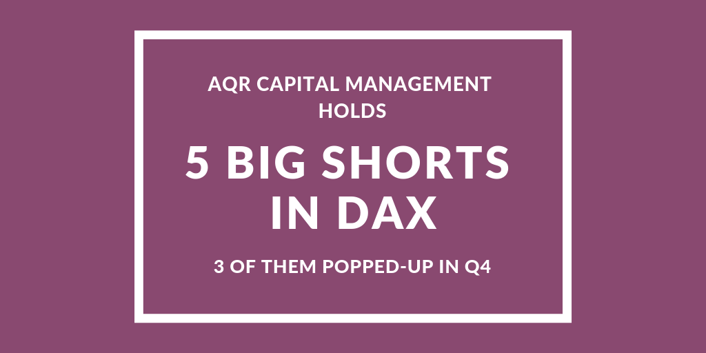 AQR has 5 Big Shorts in DAX