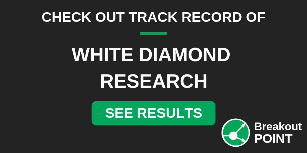 Breakout POINT - White Diamond's track record